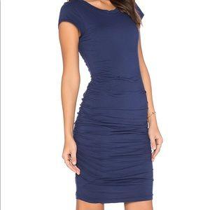 Velvet by Graham and spencer blue body con dress